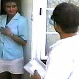 Kinky milf0  the repairman teaches her a lesson and gives her large round booty a sharp spanking. The repairman teaches her a lesson and gives her great round booty a sharp spanking
