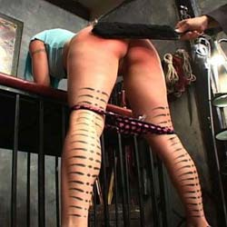 This lucky guy gets to spank and strap a passel of beauties.