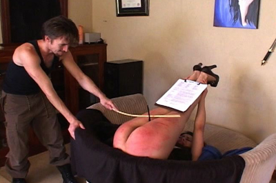 Caning for a sale 34. He brought the cane, which he uses on her ass, thighs, and the back of her legs. This real estate agent is one tough cookie. But does she walk out with the sale?