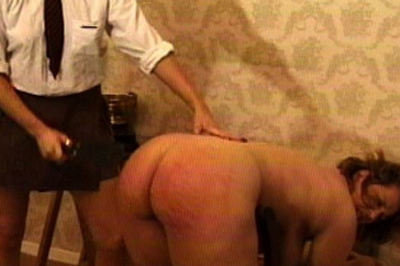 A deal 5. Her supervisor presents a deal. If she can withstand a brutal spanking, she won't tell about the missing silver. The groundskeeper has no choice.