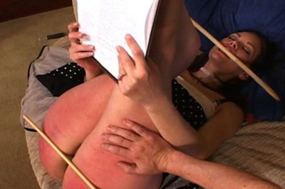 Caning for a sale 84. He brought the cane, which he uses on her ass, thighs, and the back of her legs. This real estate agent is one tough cookie. But does she walk out with the sale?