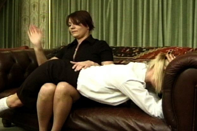 Dominatrix  office 92. Did they not think they wouldn't have to face some type of consequence? They are called to Mistress' office and she is not happy at all.